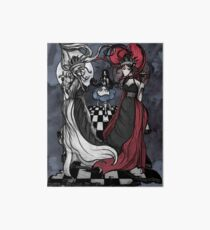 Alice and her Queens: The Checkered Board Art Board