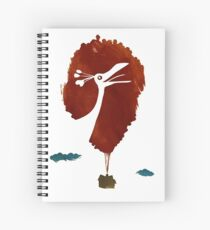 Up Colorful Silhouette Spiral Notebook