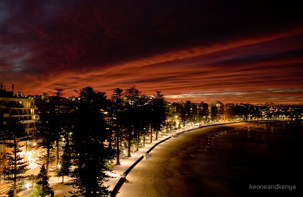South Steyne Manly Beach Sunset by keoneandkenya