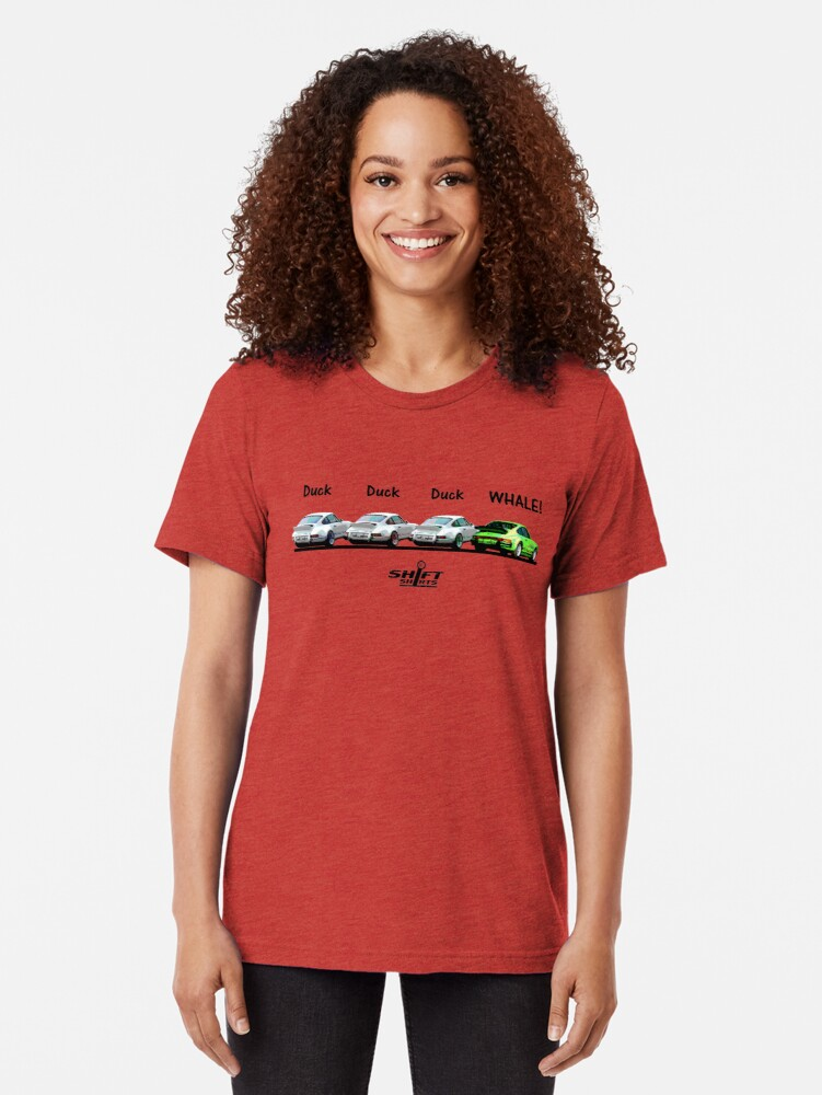 Alternate view of Duck Duck Whale - Porsche 911 Aircooled Inspired Tri-blend T-Shirt