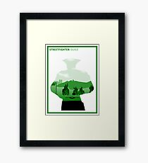 The Street Fighter: Guile Framed Print
