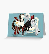 My little Vampires: Drusilla and Spike Greeting Card
