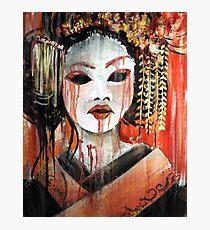Geisha in Autumn Rain: The Innocent Concubine Photographic Print