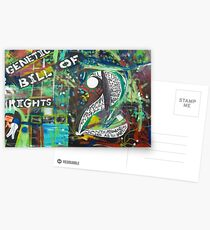 The Genetic Bill of Rights Painting Series Postcards