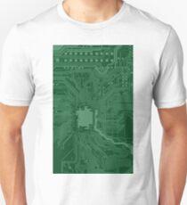 Green Geek Motherboard Circuit Pattern T-Shirt