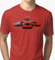 The Trinity - McLaren P1 LaFerrari Porsche 918 Inspired  Tri-blend T-Shirt