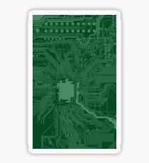 Green Geek Motherboard Circuit Pattern Sticker