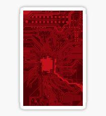 Red Geek Motherboard Circuit Pattern Sticker