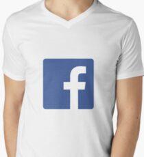 Facebook Men's V-Neck T-Shirt