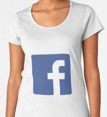 Camiseta premium para mujer Facebook