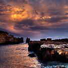 Rainbow Rocks sundown. by Steve Chapple