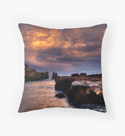 Rainbow Rocks sundown. Throw Pillow