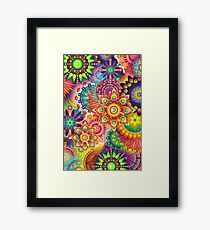Funky Retro Pattern Abstract Framed Print