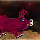 Mr Pig Abstract paint. by Forfarlass