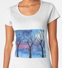 Moonlit Trees 2 Women's Premium T-Shirt