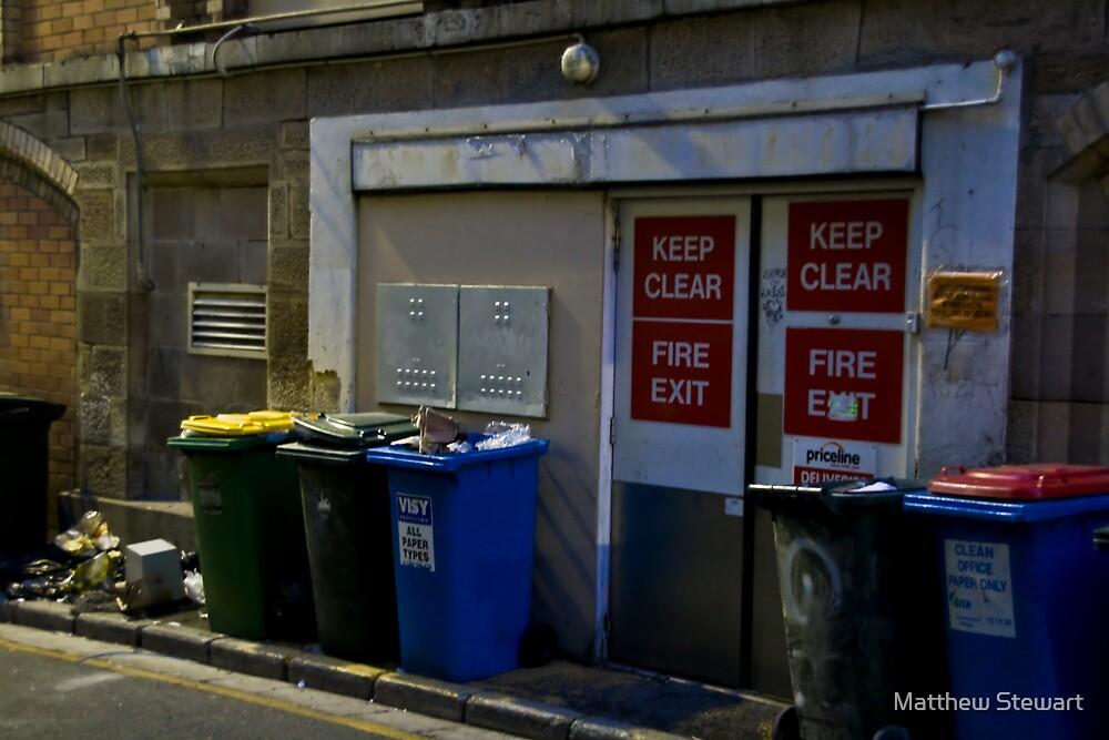 Keep Clear/Fire Exit by Matthew Stewart