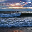 Breaking Waves - Erie, PA by Kathy Weaver