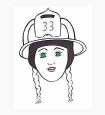 Female Firefighter  Photographic Print