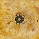 Ebony Sun Mandala by Barbora  Urbankova