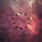 Burgundy Star Mandala by Barbora  Urbankova