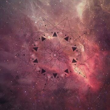 Burgundy Star Mandala by BIcicle