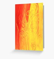 Dancing Flame Greeting Card