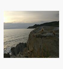 Rocks by the sea Photographic Print