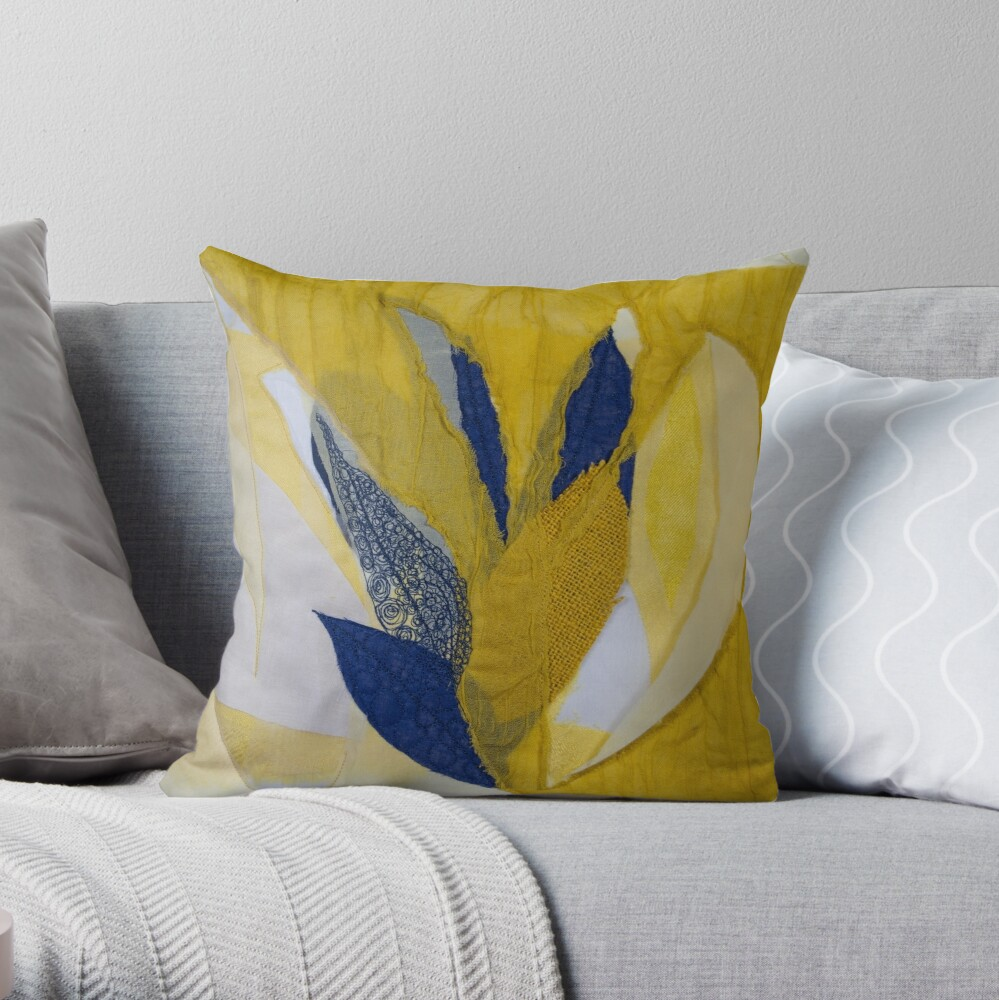 Drawing with stitching III Throw Pillow