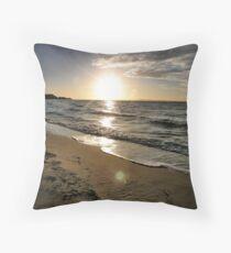 Sunset on Port Throw Pillow