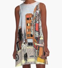 Early Morning Ride A-Line Dress