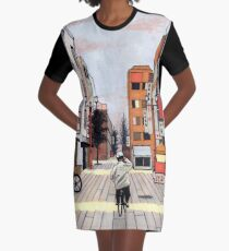 Early Morning Ride Graphic T-Shirt Dress