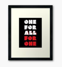 "My Hero Academia® - ""One For All VS All For One"" T-Shirt & Memorabilia Framed Print"