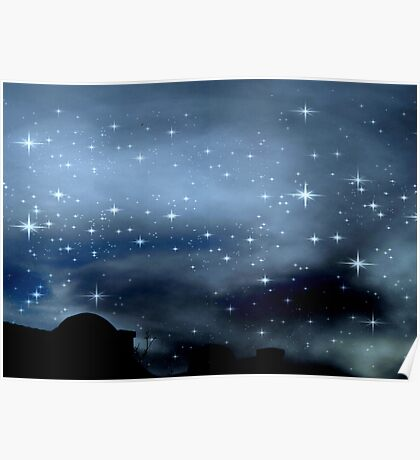 Clear Starry Night © Poster