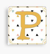 Initial P - Letter P Canvas Print
