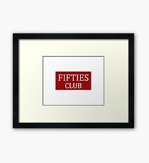 Fifties Club Framed Print