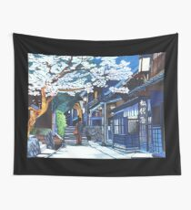 Under the Cherry Blossoms, Spring Wall Tapestry
