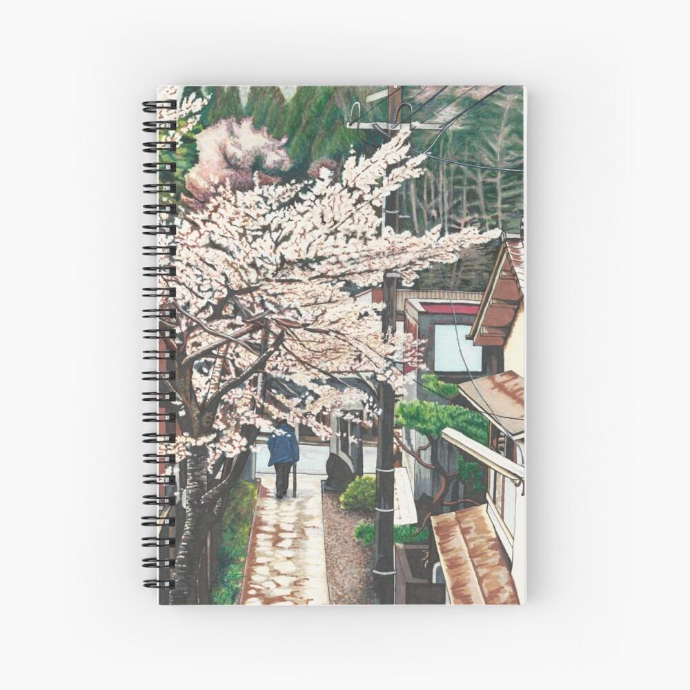 Pasando por Cherry Blossoms Cuaderno de espiral