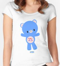Heart Song Bear Women's Fitted Scoop T-Shirt