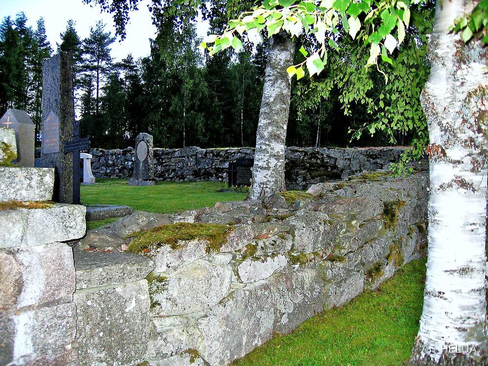 Old Churchyard Wall by HELUA