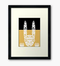 Scary Folk Rabbit Framed Print