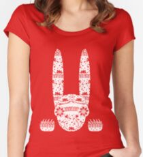 Scary Folk Rabbit Women's Fitted Scoop T-Shirt