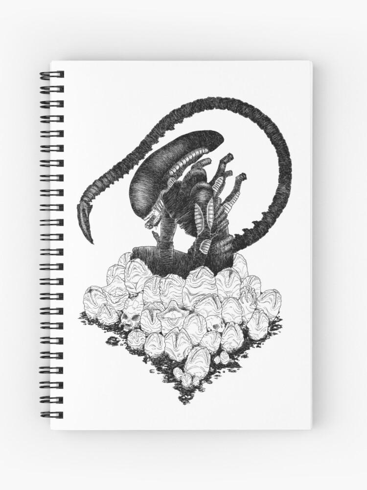 An Alien Drawing   Spiral Notebook