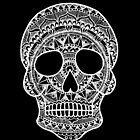 Mandala Skull - weißer Druck von georgiamason