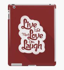 Live Love Laugh iPad Case/Skin