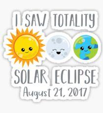 I Saw Totality - Cute Shirt - Solar Eclipse Sticker