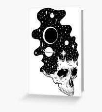 Tarjeta de felicitación Cerebros espaciales