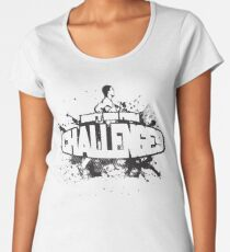 Don't Run From Challenges Women's Premium T-Shirt