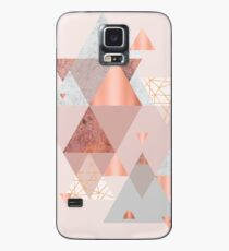 Blush Pink Geo Case/Skin for Samsung Galaxy