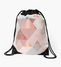 Blush Pink Geo Drawstring Bag