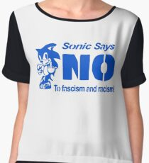 Sonic Says NO To Fascism and Racism! Women's Chiffon Top